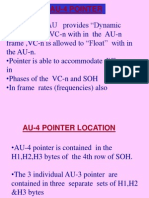 Pointer Action in SDH