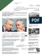 Netanyahu convenes ministers to discuss growing Israel economic boycott threats / Barak Ravid, 9.2.14