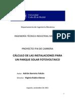 Cálculo de las instalaciones para un parque solar fotovoltaico.pdf