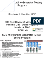 Micro Turbine Testing Program
