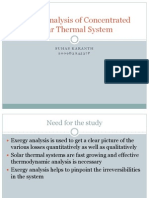 Exergy Analysis of Solar Thermal System