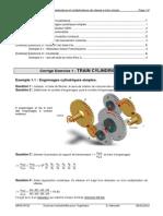TD 21 corrigé - Loi E-S pour les réducteurs et multiplicateurs de vitesse à train simple