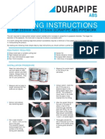 Durapipe ABS Jointing Instructions.
