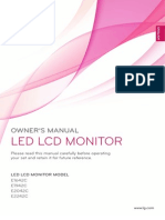 LG E2242C-BN Monitor User Manual