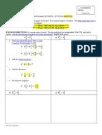 4 – Math Homework 02.10-- 02.14.2014  Original & Modified