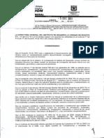 Resolucion 4880_2011 - Especificaciones Técnicas Generales de Materiales y Construcción Para Proyectos en Infraestructura Vial y de Espacio Público en Bogotá