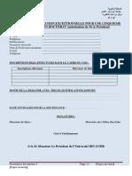Derogation 5eme Annee Doctorat