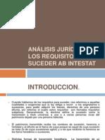 ANÁLISIS JURÍDICO DE LOS REQUISITOS PARA SUCEDER AB