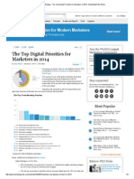 Marketing Strategy - The Top Digital Priorities for Marketers in 2014 _ MarketingProfs Article