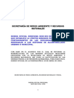 Nom-semarnat-002 Descarga de Aguas Residuales Al Alcantarillado