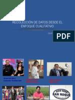 RECOLECCIÓN DE DATOS DESDE EL ENFOQUE CUALITATIVO