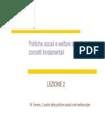 Politiche Sociali e Welfare State