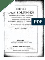 Solfege Des Solfege Vol. 9a-10a Score