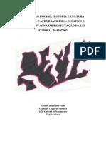 FORMAÇÃO INICIAL, HISTÓRIA E CULTURA AFRICANA E AFROBRASILEIRA