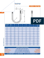 U Bolts Sizes for Pipework (Metric).