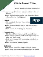 success criteria - recounts