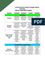 authentic assessment rubric