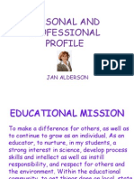 personal profile for weebly 2014