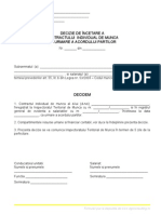 Decizie de Incetare a CIM Prin Acordul Partilor