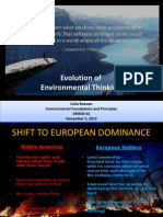 Evolution of Environmental Thinking Powerpoint