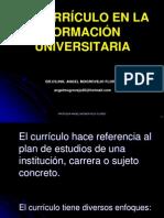 3. EL CURRÍCULO EN LA FORMACIÓN UNIVERSITARIA