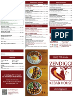 Zendiggi Kebab House Menu