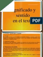 Significado y Sentido en El Texto