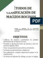 MÉTODOS DE CLASIFICACIÓN DE MACIZOS ROCOSOS