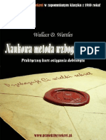 Naukowa Metoda Wzbogacania Sie - Wallace D. Wattles