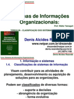 Topico 09 - Classificacao Dos Sistemas de Informacao