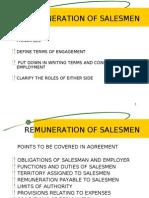 Remuneration of Salesmen