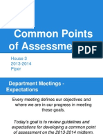 house 3- common points of assessment