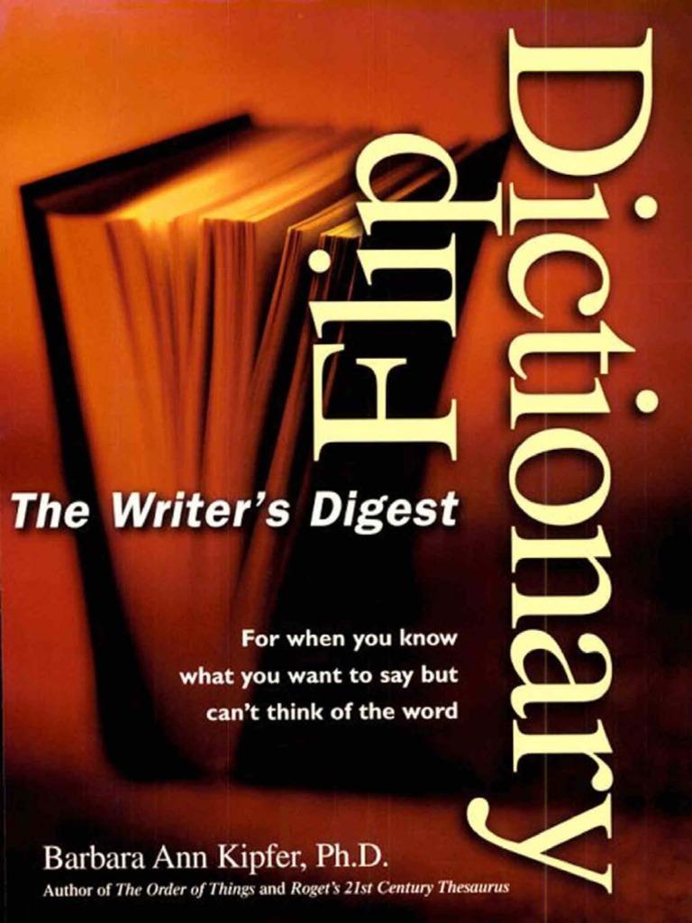 39ba1e9f691 Writer s Digest Flip Dictionary-Mantesh
