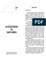 As Excelências da Santa Missa - Frei Leonardo de Porto-Maurício