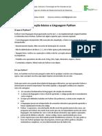 Introdução básica a linguagem Python