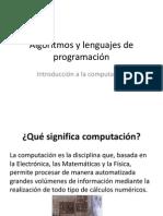 1-1 Introducción a la computación