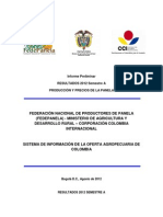 Informe Panela Primer Semestre 2012