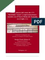 Usos y Abusos Del Censo de 1777. Sociedad, Raza y Representaciones Sociales en El Nuevo Reino de Granada, Siglo XVIII.