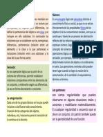 Clasificación, categorización, seriación y patrón