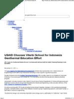USC - Viterbi School of Engineering - USAID Chooses Viterbi School for Indonesia Geothermal Education Effort