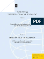 Derecho Internacional Privado - Hernán Ríos de Marimón