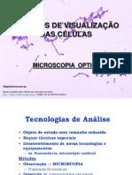 Aula 2. MÉTODOS DE VISUALIZAÇÃO DAS CÉLULAS - MICROSCOPIA