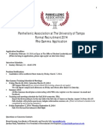 Rho Gamma Application 2014