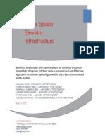 Lunar Space Elevator Infrastructure
