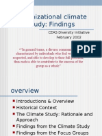 Organizational Climate Findings