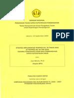 Strategi Implementasi Perpres No. 36 Tahun 2005 Jo perpres No. 65 Tahun 2006 Tentang Pengadaan Tanah Bagi Pembangunan Untuk Kepentingan Umum