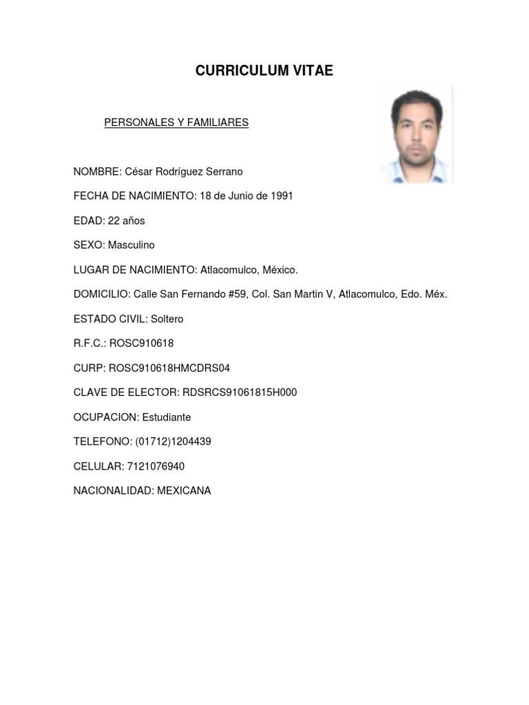 Lujoso Currículum Laboral De 18 Años Colección de Imágenes ...