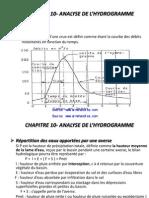 Ch10 Analyse de l Hydrogramme