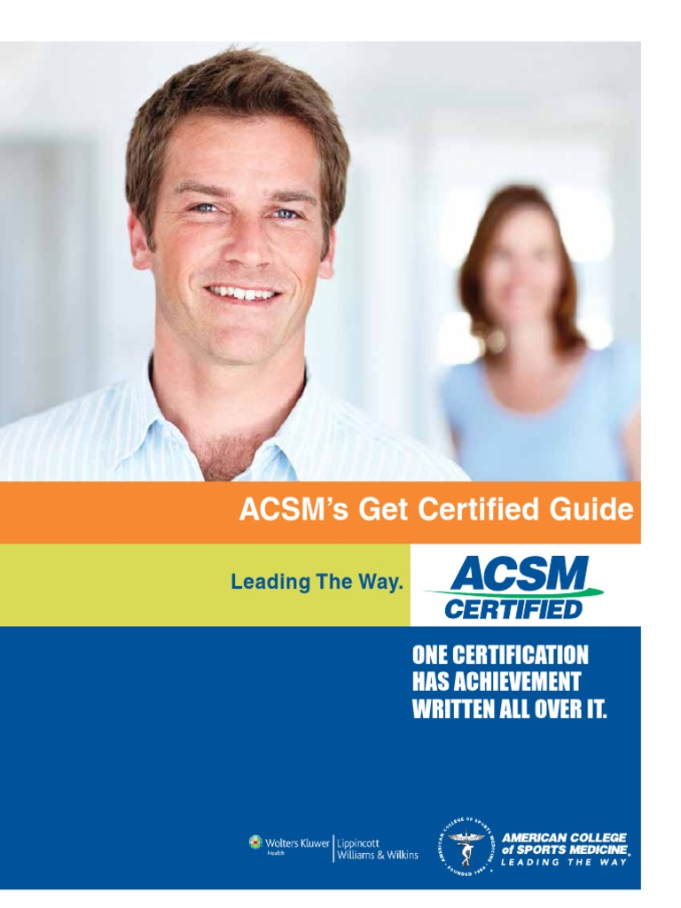 Acsm Certification Guide Identity Document Professional