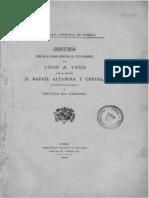 Altamira, Discurso de Apertura 1898